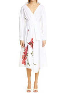 Adam Lippes Print Cotton Poplin Wrap Dress