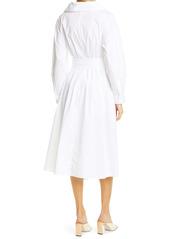 Adam Lippes Print Cotton Poplin Wrap Dress