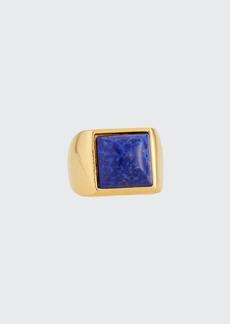 Adam Lippes Signet Glass Stone Ring  Size 5