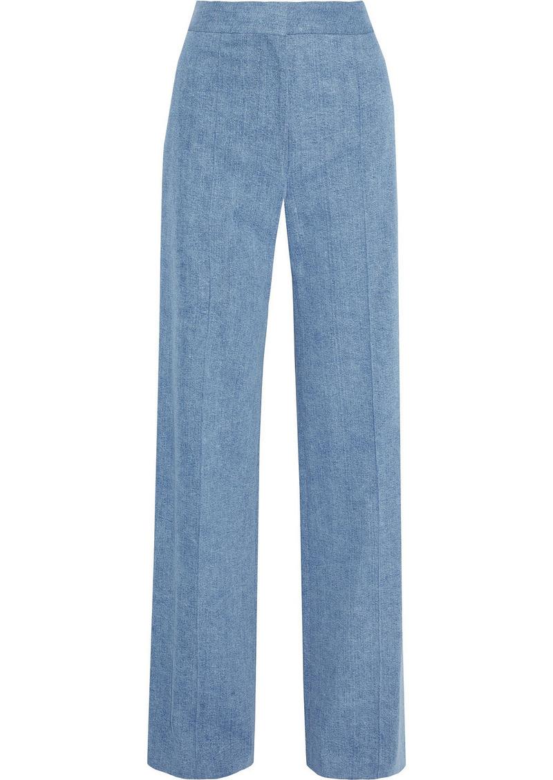 Adam Lippes Woman Cotton-blend Twill Wide-leg Pants Light Blue