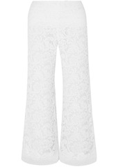 Adam Lippes Woman Cotton-blend Corded Lace Culottes White