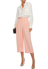 Adam Lippes Woman Pleated Cady Culottes Peach