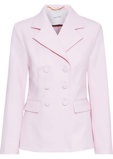 Adam Lippes Woman Double-breasted Wool-blend Blazer Baby Pink