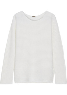 Adam Lippes Woman Ribbed Mohair-blend Sweater Ivory