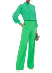 Adam Lippes Woman Stretch-wool Wide-leg Pants Bright Green