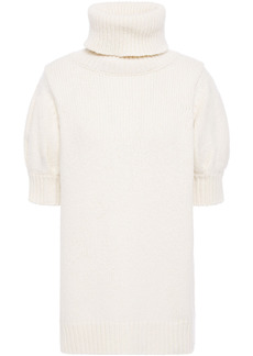 Adam Lippes Woman Wool And Cashmere-blend Turtleneck Top Ivory