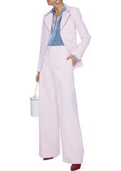 Adam Lippes Woman Wool-blend Wide-leg Pants Baby Pink