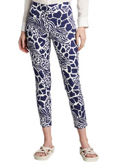 Adam Lippes Animal Print Cigarette Pants