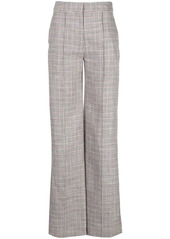 Adam Lippes checked wide-leg trousers