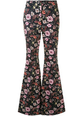 Adam Lippes floral print trousers
