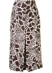 Adam Lippes Front Pleat Animal Print culottes