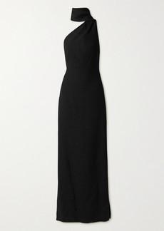 Adam Lippes One-shoulder Draped Bouclé Gown