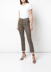 Adam Lippes plaid cropped trousers