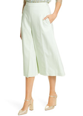 Adam Lippes Pleated Tropical Stretch Wool Culottes