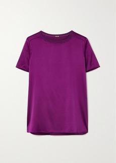Adam Lippes Stretch-silk Charmeuse T-shirt