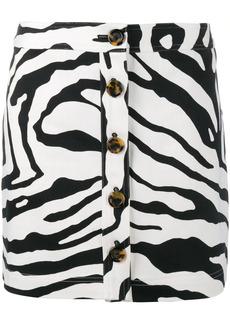 Adam Lippes zebra print mini skirt