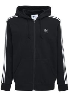 Adidas 3-stripes Zip Cotton Blend Hoodie