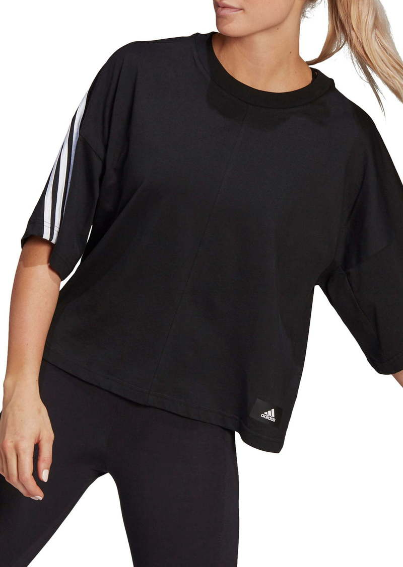 adidas 3-Stripes Crop Cotton T-Shirt