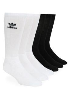 adidas Originals 6-Pack Original Trefoil Crew Socks