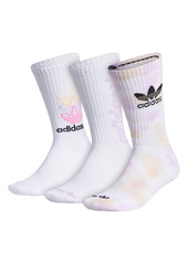 adidas Assorted 3-Pack Colorwash Crew Socks
