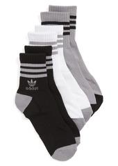 adidas Originals 3-Pack Ribbed Ankle Crew Socks