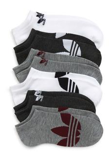 adidas Originals 6-Pack Trefoil Logo No-Show Socks