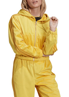 adidas Originals Corduroy Hooded Crop Track Jacket