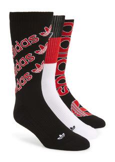 adidas Originals Defy Assorted 3-Pack Crew Socks