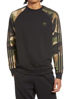 adidas Originals Men's Camo Stripes Crewneck Sweatshirt