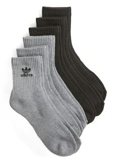 adidas Originals Trefoil 6-Pack Quarter Socks