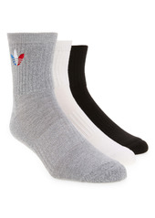 adidas Originals Tricolor Trefoil Assorted 3-Pack Crew Socks