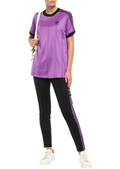 Adidas Originals Woman Striped Stretch-jersey Track Pants Black