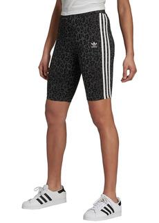 adidas Originals Women's Animal-Print Biker Shorts