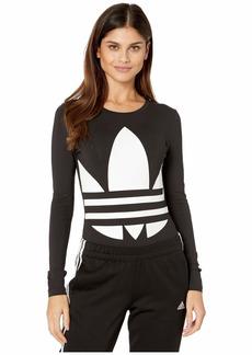 adidas Originals Women's Large Logo Bodysuit /White 2XS