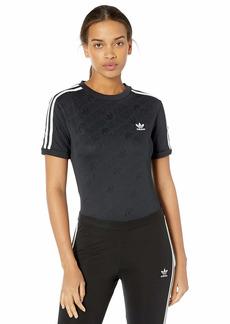 adidas Originals Women's Superstar Body Suit Blue bird/white