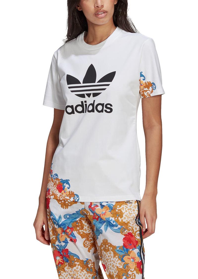 adidas Originals x HER Studio Floral Accent Graphic Logo Tee