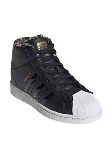 adidas Superstar Up Fleece Lined High Top Wedge Sneaker (Women)