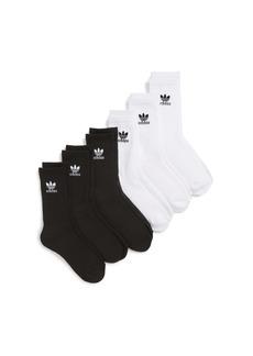 adidas Trefoil 6-Pack Crew Socks (Little Kid & Big Kid)