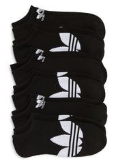 Adidas Trefoil 6-Pack No-Show Socks