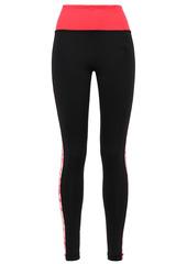 Adidas Woman Floral-print Stretch Leggings Black