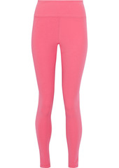 Adidas Woman Stretch-jersey Leggings Pink