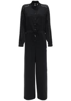 Adidas Button Down Jumpsuit W/ Lace Details