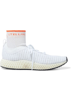 Adidas By Stella Mccartney Woman Alphaedge 4d Stretch-knit Sneakers White