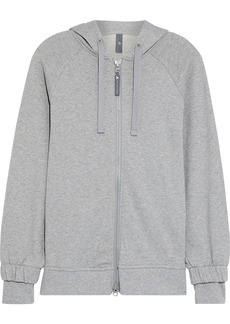 Adidas By Stella Mccartney Woman Essentials Mélange French Cotton-terry Hoodie Gray