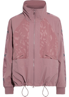 Adidas By Stella Mccartney Woman Performance Track Paneled Printed Stretch-shell Jacket Antique Rose
