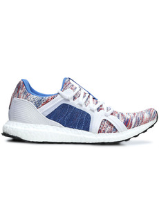 Adidas By Stella Mccartney Woman Ultraboost Parley Mesh-trimmed Mélange Knitted Sneakers Blue