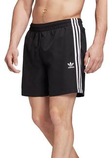 Men's Adidas Originals 3-Stripes Swim Trunks