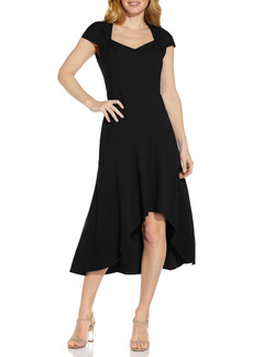 Adrianna Papell Divine Crepe Midi Cocktail Dress