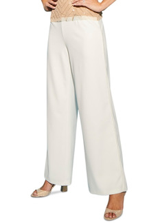Adrianna Papell Embellished Trousers