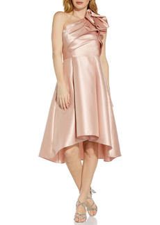 Adrianna Papell One-Shoulder Mikado Cocktail Dress